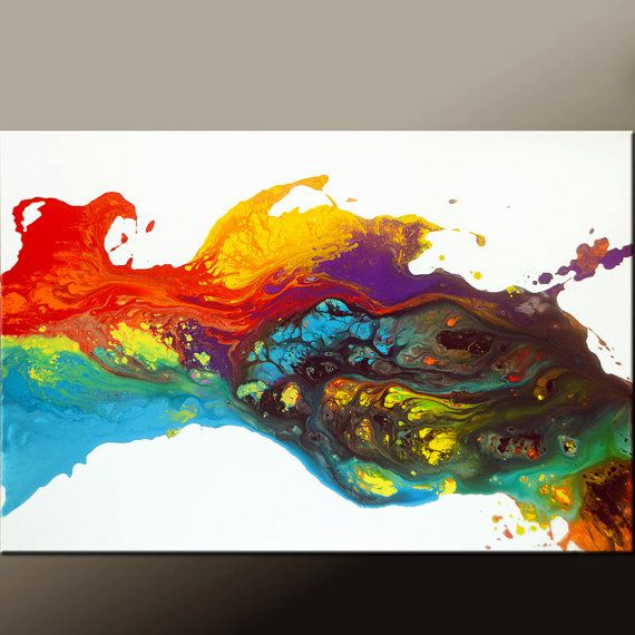 Abstract Canvas Art Painting 36x24 Original Contemporary Wall Art by Destiny Womack - dWo -  Finding Joy