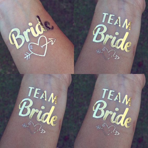 HEN PARTY TEAM BRIDE GOLD TEMPORARY TATTOOS HEN NIGHT
