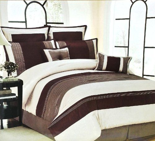 12pc Luxury Bed In A Bag Monarch Taupe Queen Ivory Bed In A Bag Http Www Dp B00h8jw0n6 Ref Cm Sw R Pi Dp Brown Comforter Sets Bed Luxury Bedding