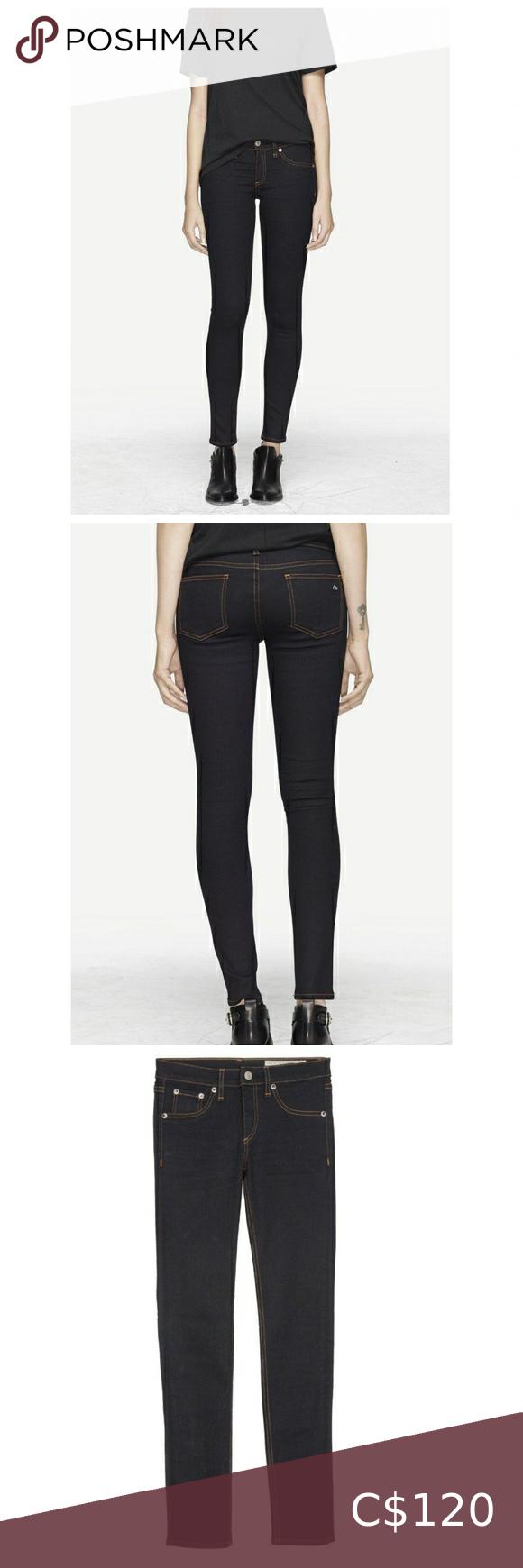 rag & bone skinny jeans soft harrow wash size 23
