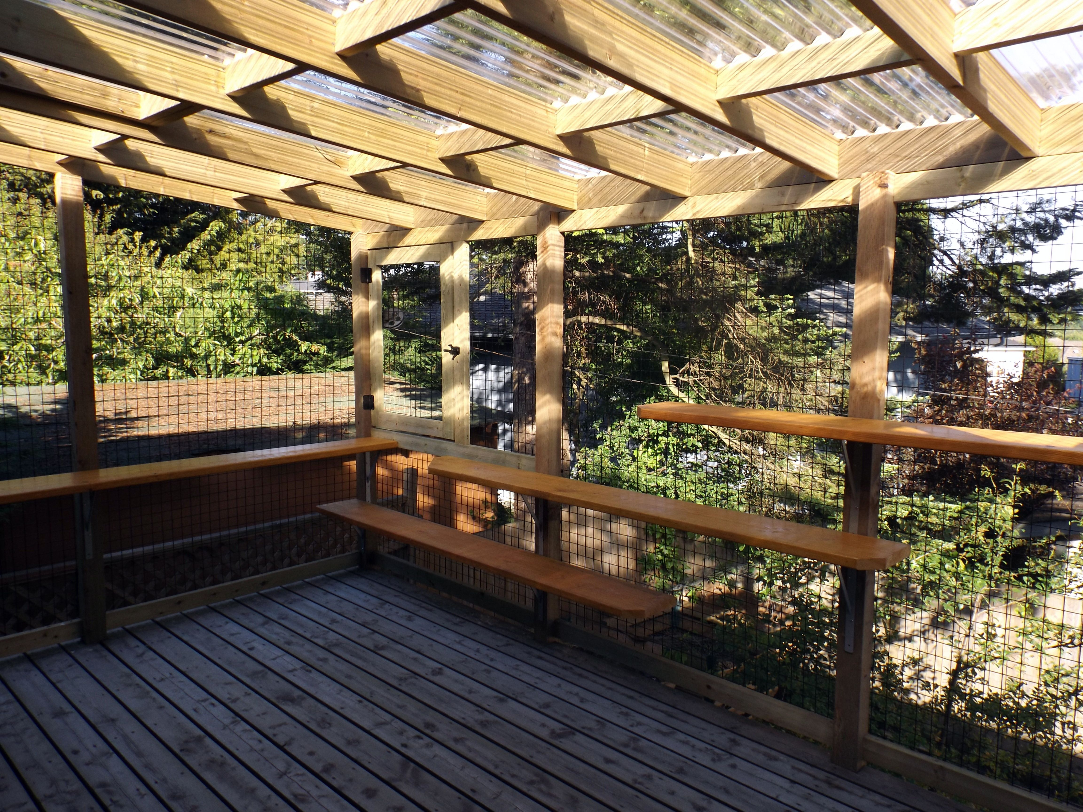 A large deck enclosure by beautiful world living