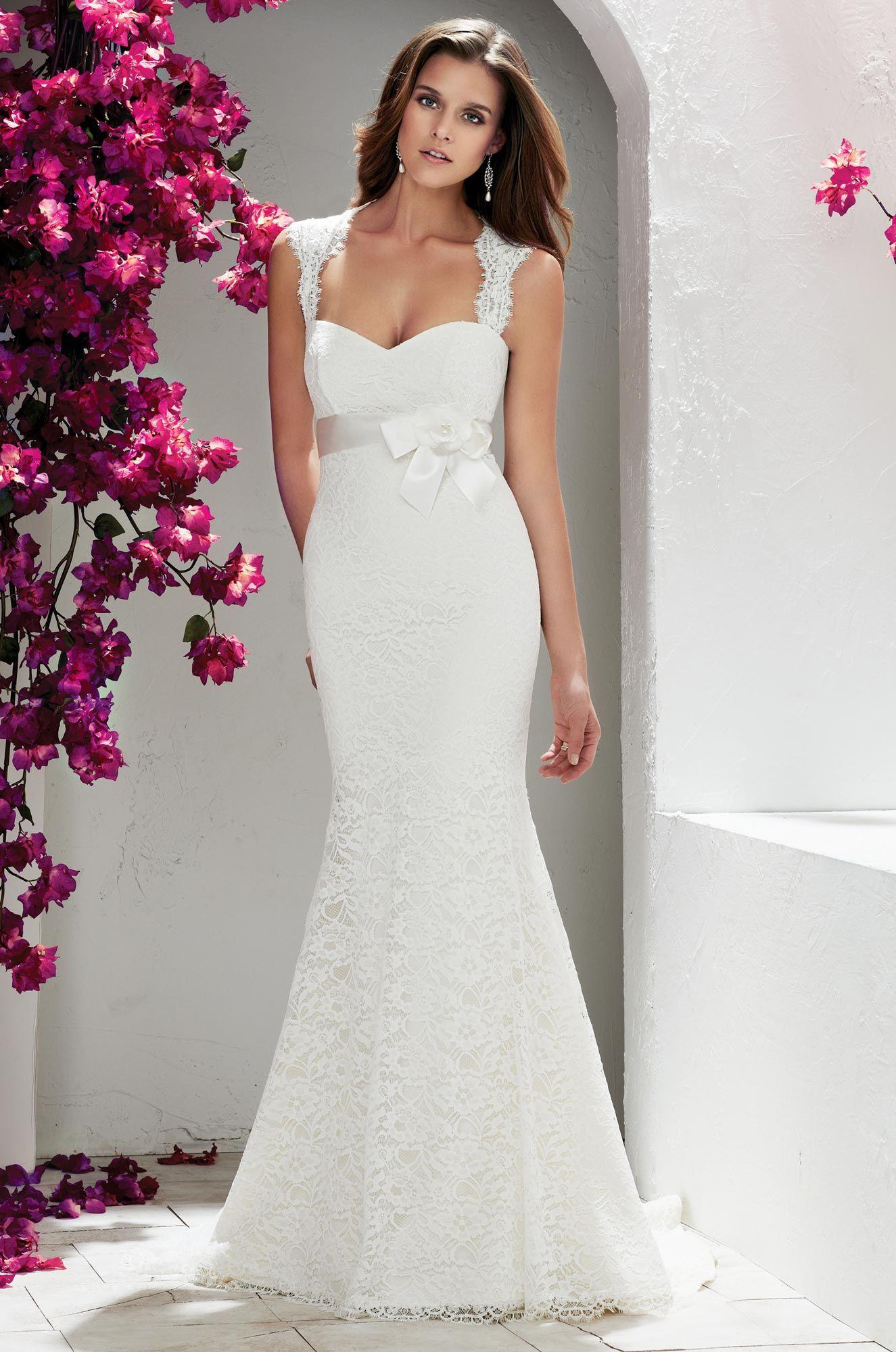 Keyhole strap wedding dress style mikaella bridal strap