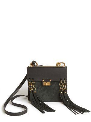 e0f2b9e2b7 CHLOÉ Jane Small Leather & Suede Crossbody Bag. #chloé #bags #shoulder bags  #stone #crossbody #suede