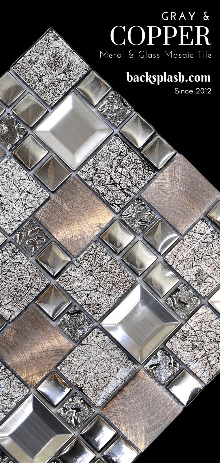 Kitchenbacksplash Copper Mosaic Backsplash Copper Mosaic Mosaic Backsplash