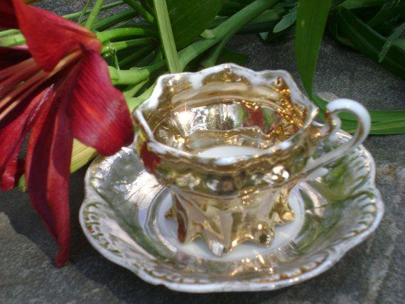 Circa 1920, vintage German childs gold tea cup