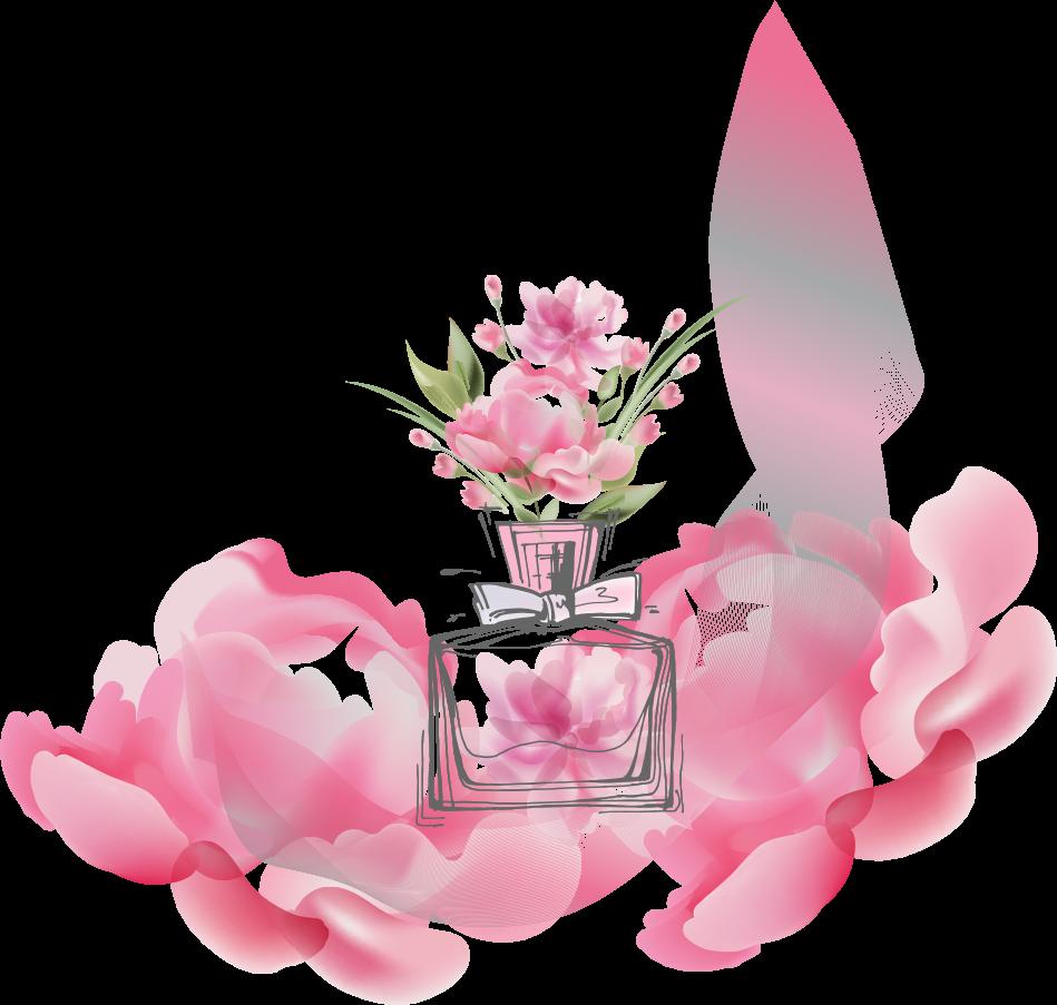 Pink Flower Cartoon 949*903 transprent Png Free Download