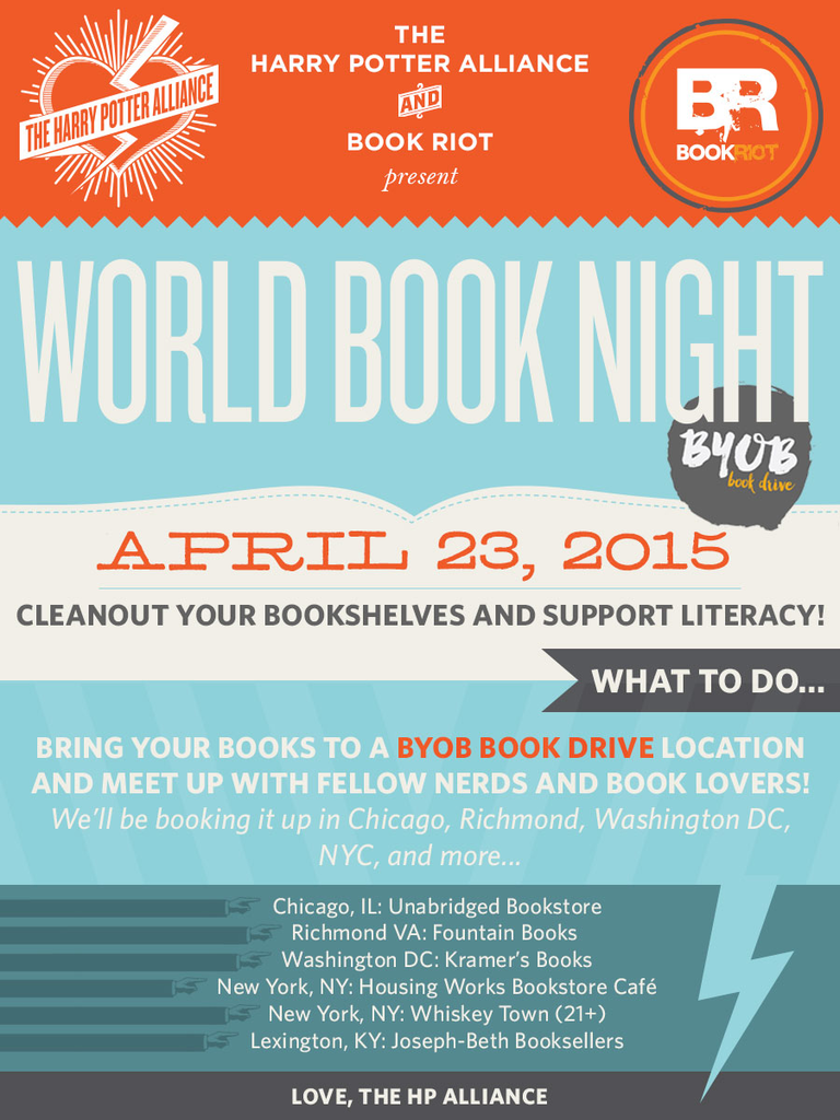 Join us for World Book Night!