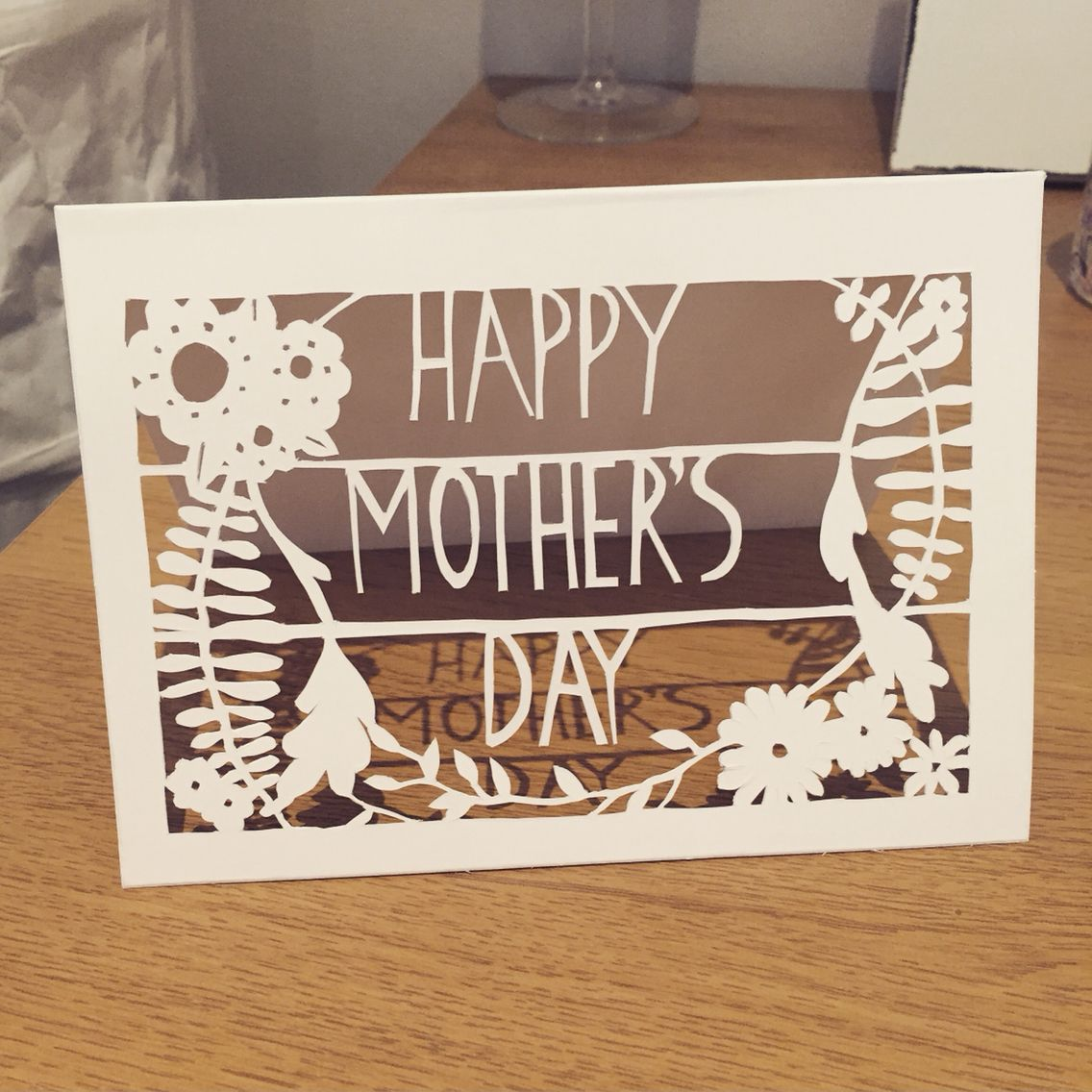Handmade papercut motherus day card floral design see more at