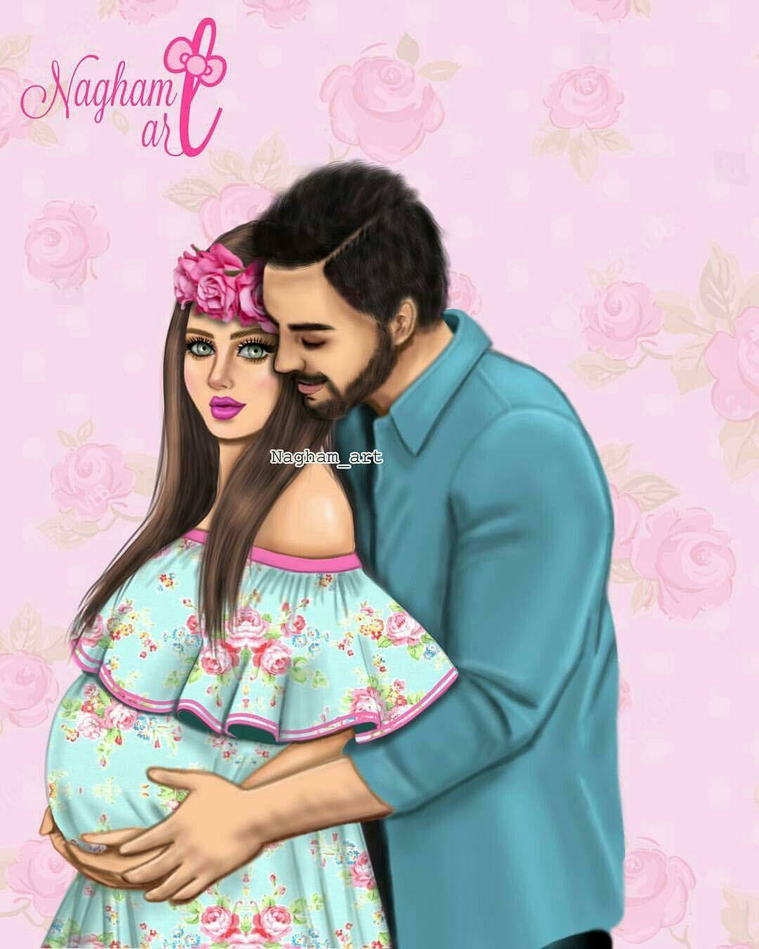 Pin By حسين حسين On Kaftan Cute Couple Art Mother Daughter Art Cute Girl Drawing