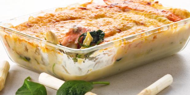 Lente lasagne met gerookte zalm | EMTÉ Supermarkten