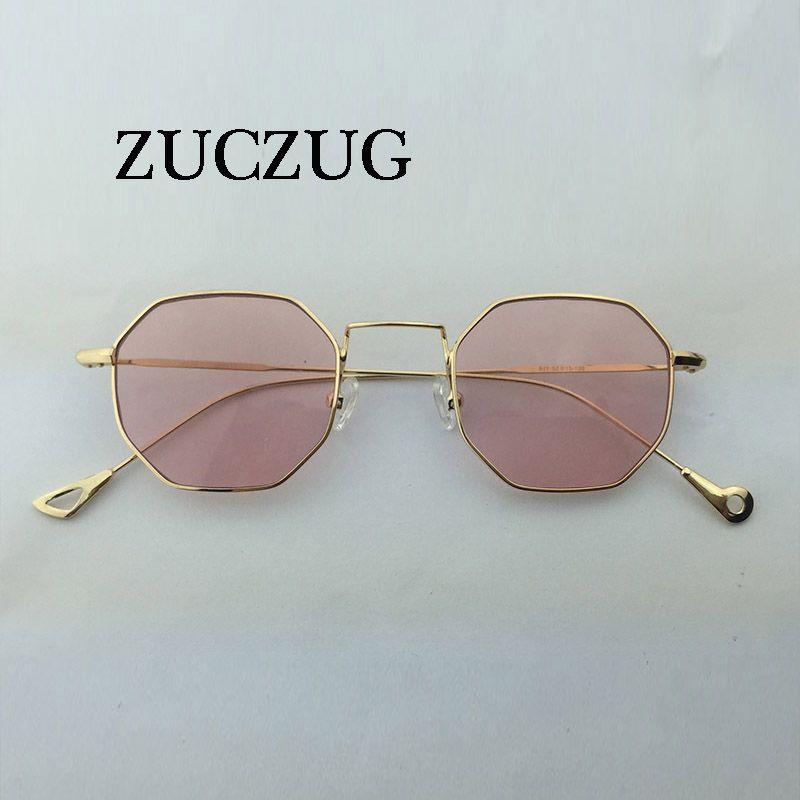 f9dbea6a9550e ZUCZUG Hexagon Sunglasses Women Small Frame Polygon Sunglasses men Brand  Designer Blue Pink Clear Lens Sun Glasses Female UV400   Price   10.00    FREE ...