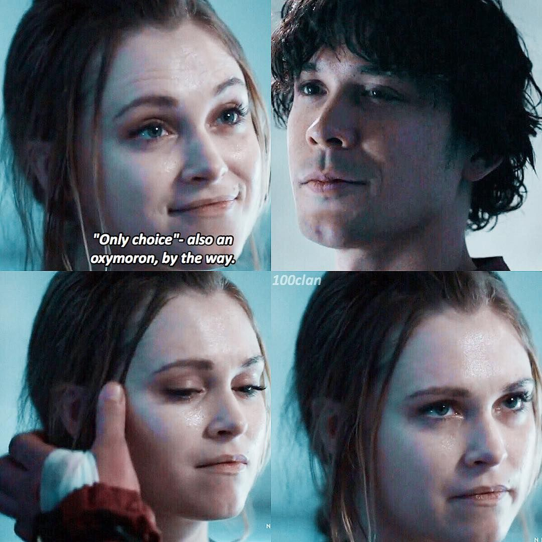 the 100 2x01 ending relationship
