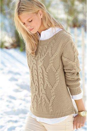Дамски пуловер, кремава - Next   Stilago