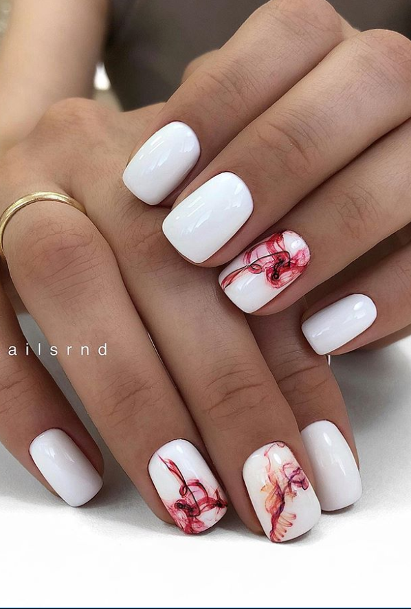 30 Hottest Natural Short Nails For Summer Nails Ideas Page 27 Of 30 Latest Fashion Trends For Woman In 2020 Nail Designs Summer White Acrylic Nails Short Nail Designs