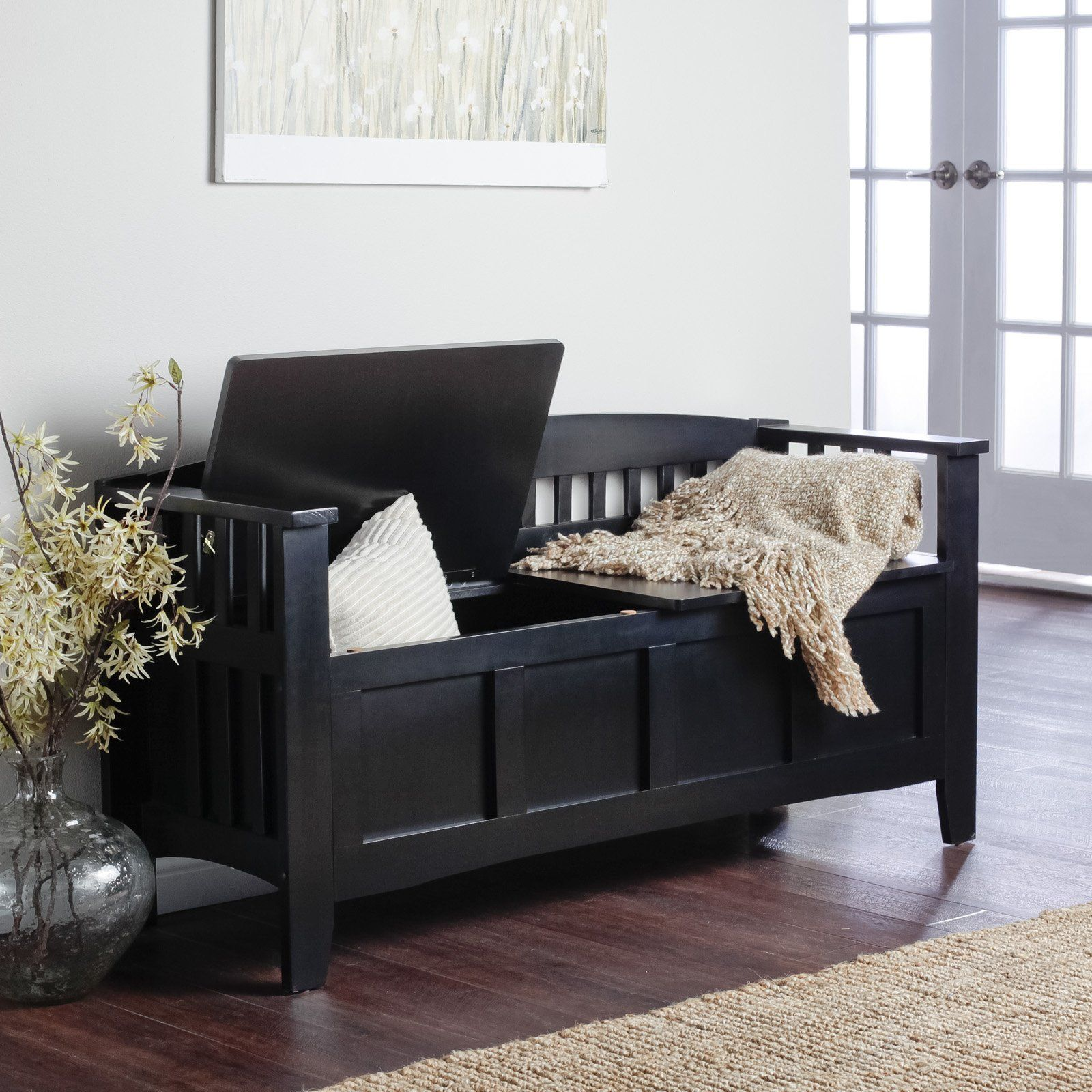 Indoor Bench Ideas Part - 20: Hunter Storage Bench - Black - Indoor Benches At Benches