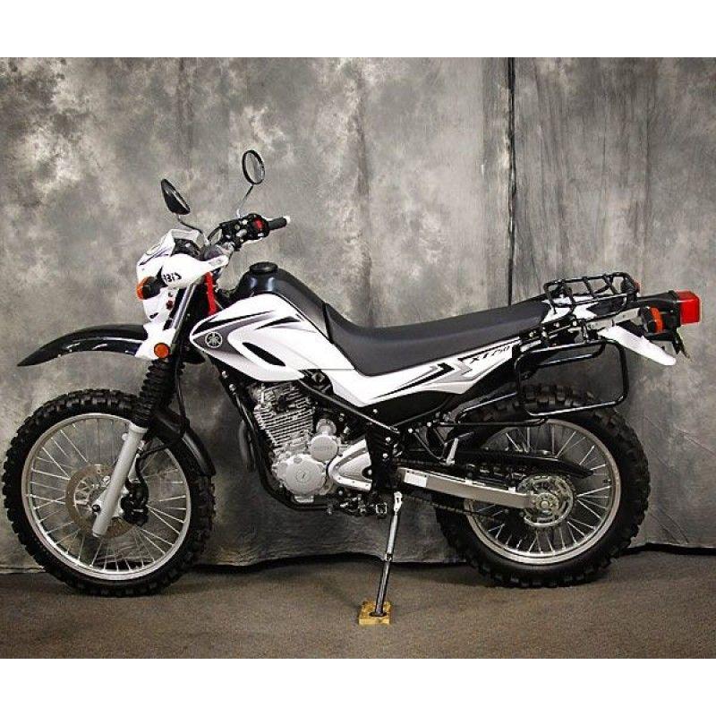 Happy Trails SL Soft Luggage Rack on Yamaha XT250
