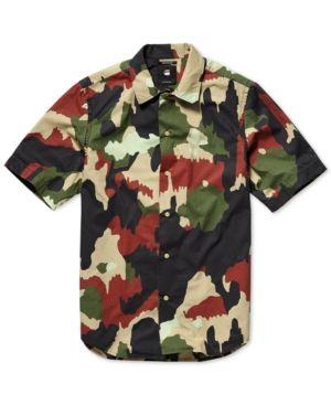 5ccc8515802 G-Star Raw Men s Bristum Utility Camo Shirt - Green XXL