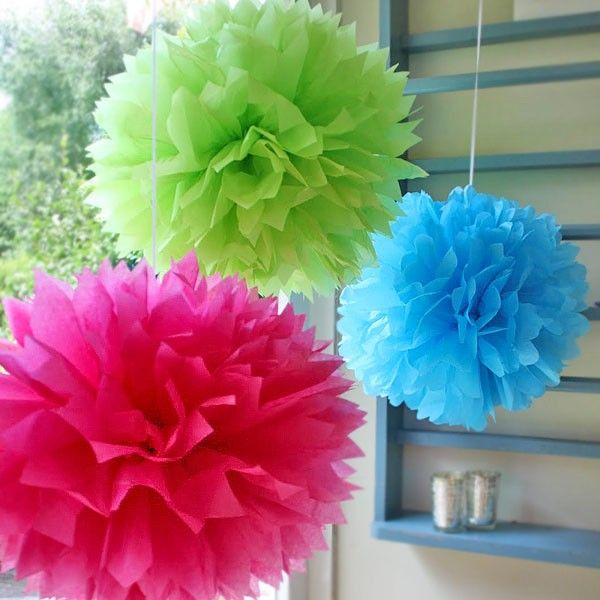 3 large tissue paper pom poms in 3 colours awesome diy 3 large tissue paper pom poms in 3 colours mightylinksfo