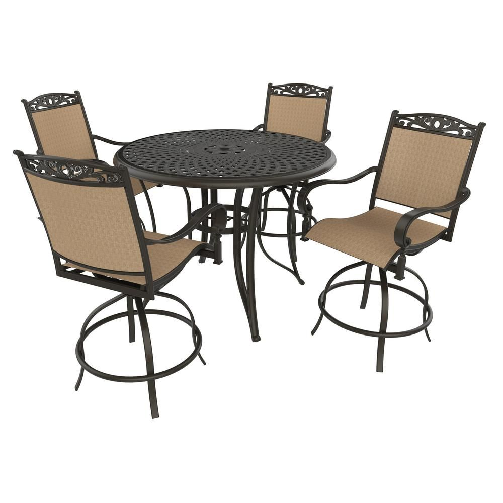 Astounding Royal Garden Tuscan Estate 5 Piece Aluminum Outdoor Bar Ocoug Best Dining Table And Chair Ideas Images Ocougorg