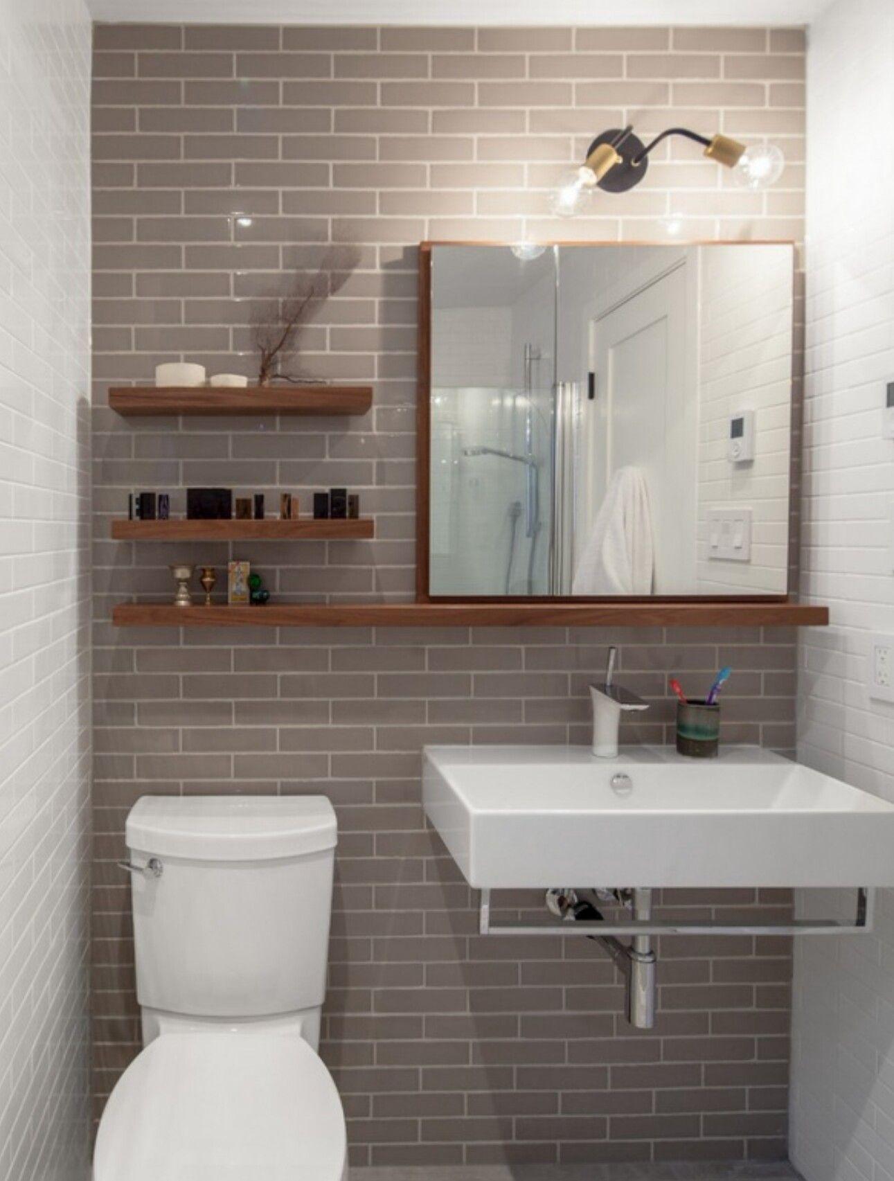 Bathroom Mirror And Shelf Beautiful Small Bathrooms Bathroom