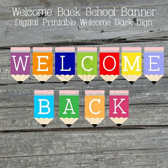 graphic relating to Welcome Back Signs Printable referred to as Welcome Back again Printable Banner Back again towards university Indicator Instructor