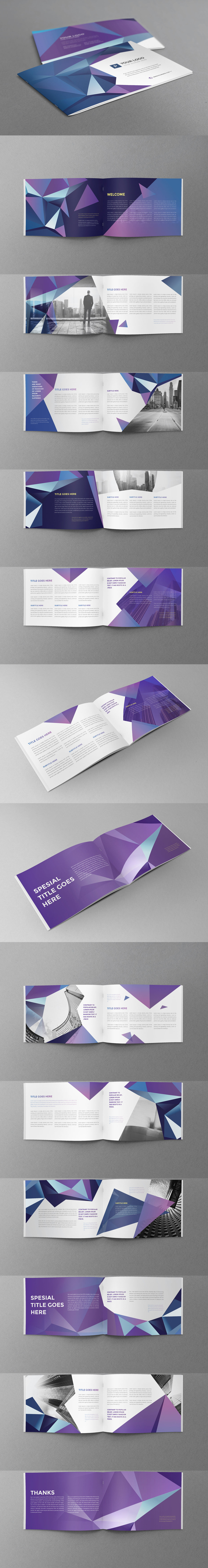Cool Modern Brochure 32 Pages A5 Horizontal Template InDesign INDD ...
