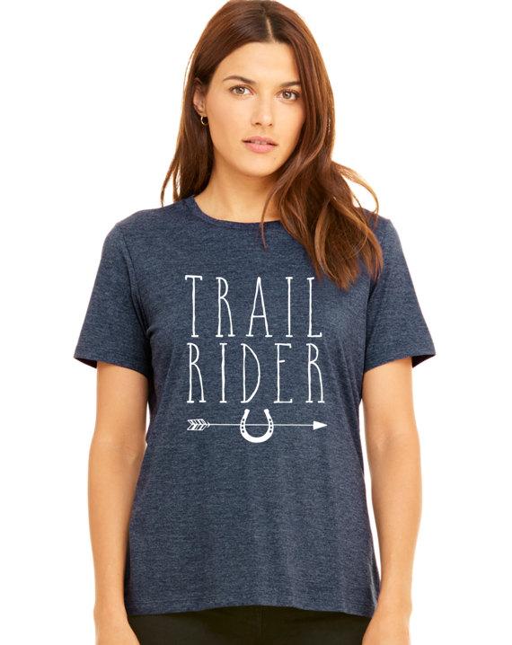 Trail Rider Arrow  Horse  Equestrian  Farm Girl  by HorseDoodles