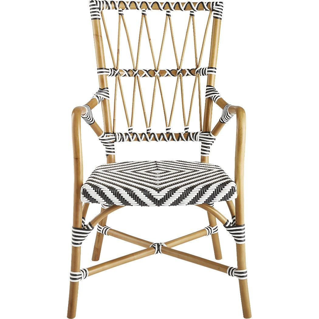 Shop Criss Cross Cafe Chair. Natural cane frame bends and angles