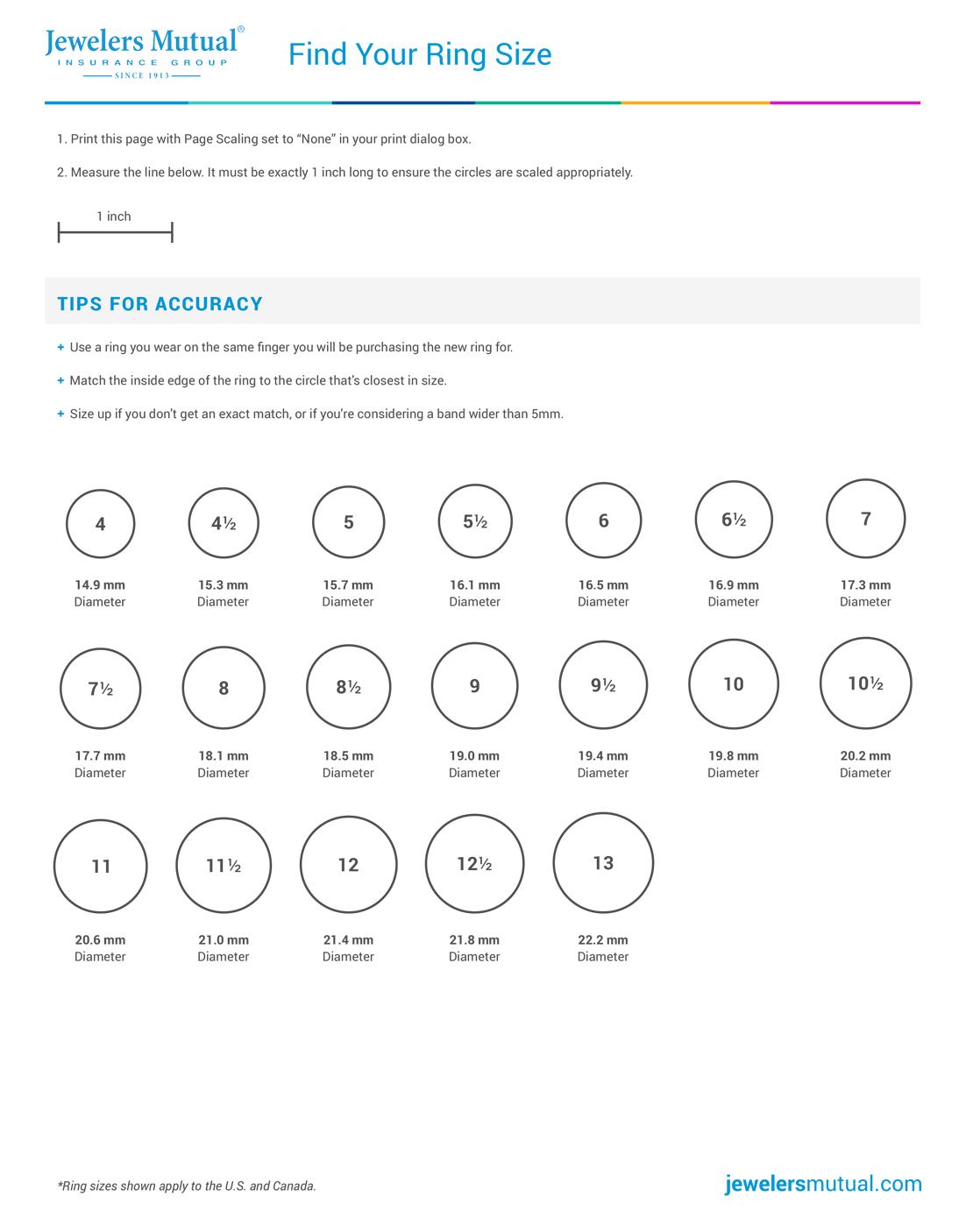 Diamond Size Chart & 4 More Tools You Shouldn't Shop