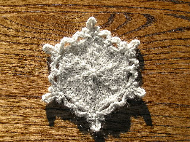 Snowflake Ornament Worsted Christmas Inspiration Pinterest