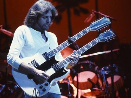 Don Felder Of The Eagles With His Gibson Double Neck Eds 1275 Used