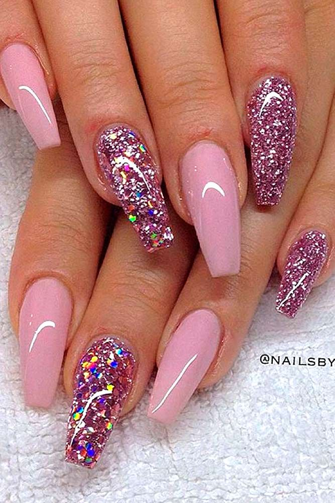 Daily Charm Over 50 Designs For Perfect Pink Nails Pink Nail Designs Nail Designs Glitter Rhinestone Nails