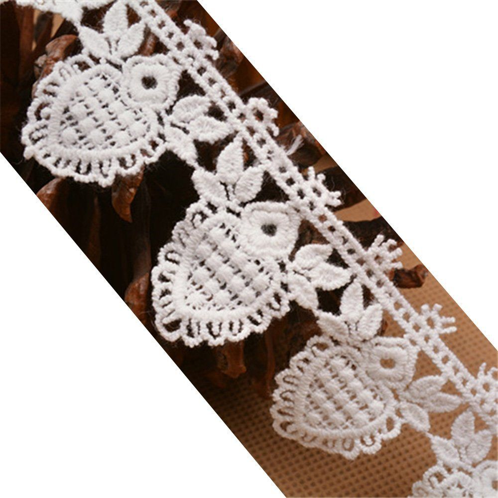 "4-1//4/"" Scallop Eyelet Lace Trims for Sewing and Decorative Use Pack of 10 Yards"