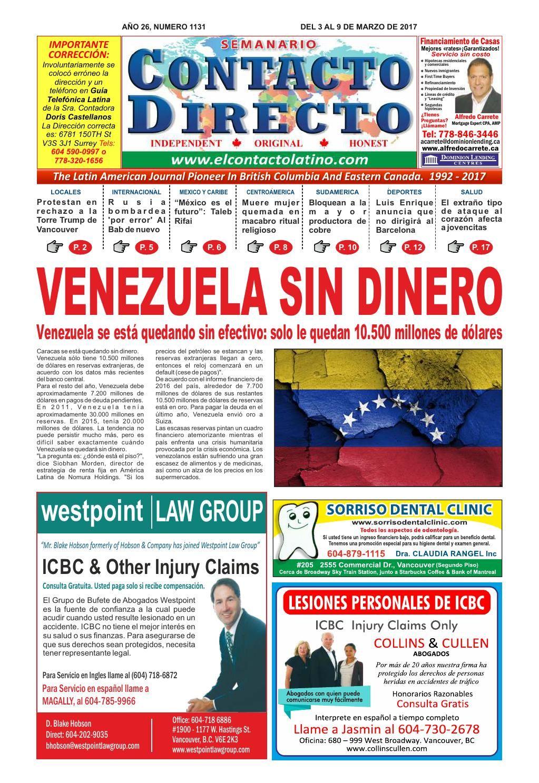 SEMANARIO CONTACTO DIRECTO EDICIÓN 03/04/2017
