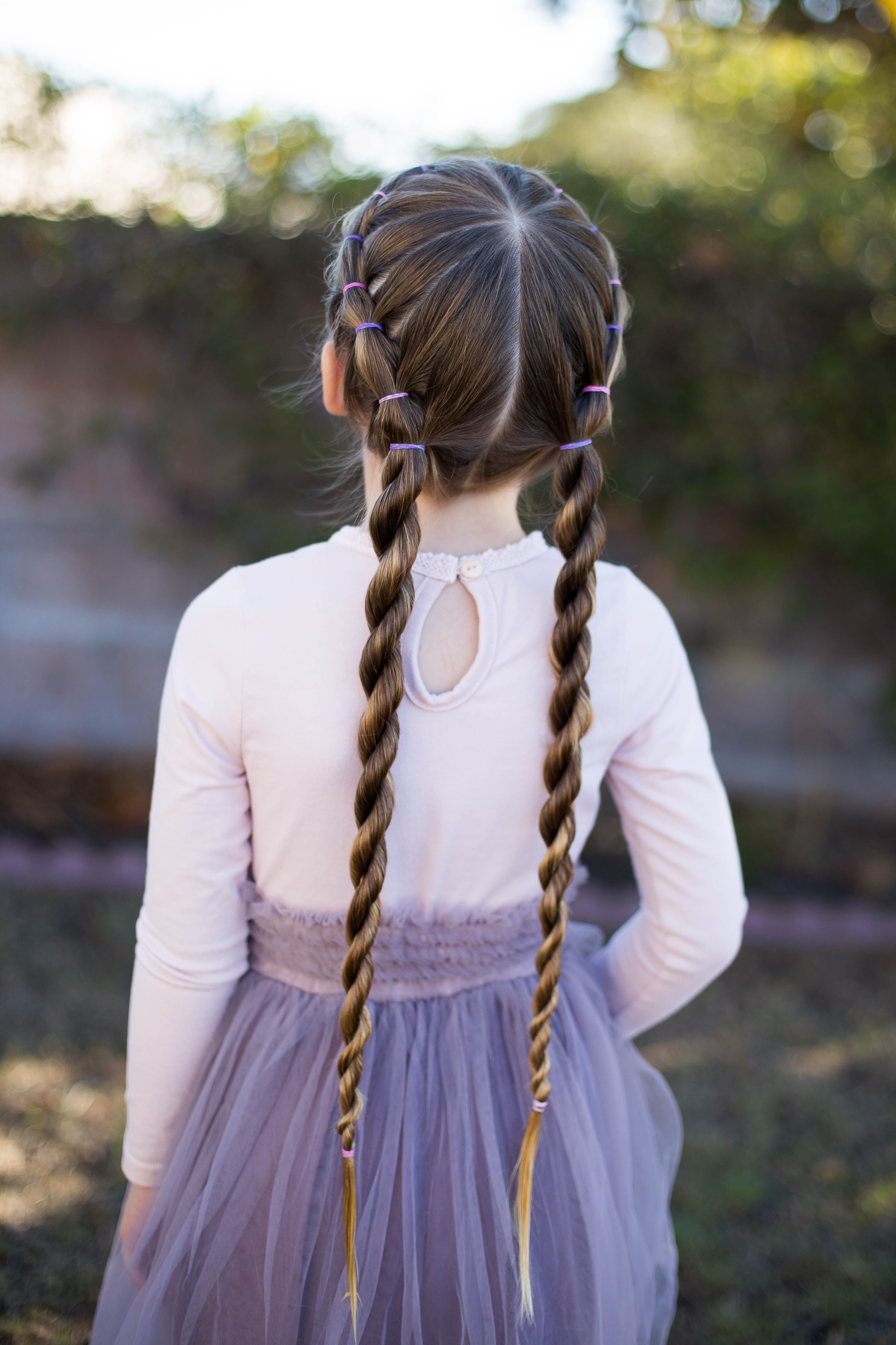 Banded twist braid pinterest twisted braid girl hairstyles and