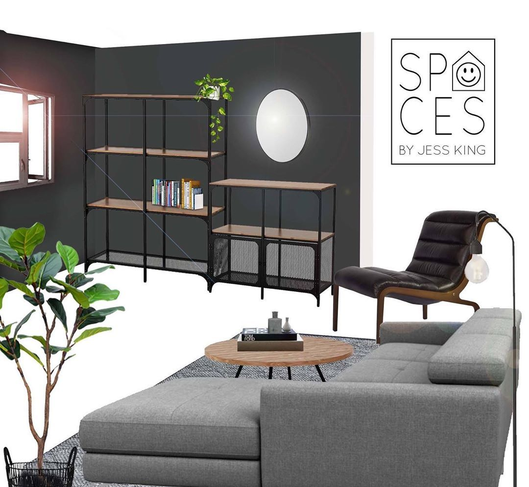 Jess King On Instagram The Ikea Fjallbo Shelving Units Giving An Affordable Industrial Edge To This Living Spa Ikea Living Room Living Spaces Ikea Australia [ 994 x 1080 Pixel ]