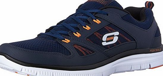 Skechers Flex Advantage Mens Low Top Sneakers Blue Navy Orange