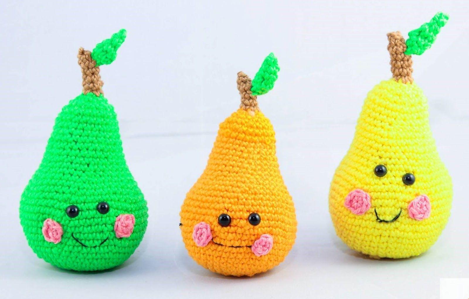 Obstbirnehäkelnanleitung Kostenlos Deutsch Häkeln Crochet