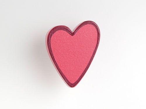 herz rosarot (asym.) - möbelgriff / möbelknopf für kinderzimmer ... - Kinderzimmer Rosa Rot