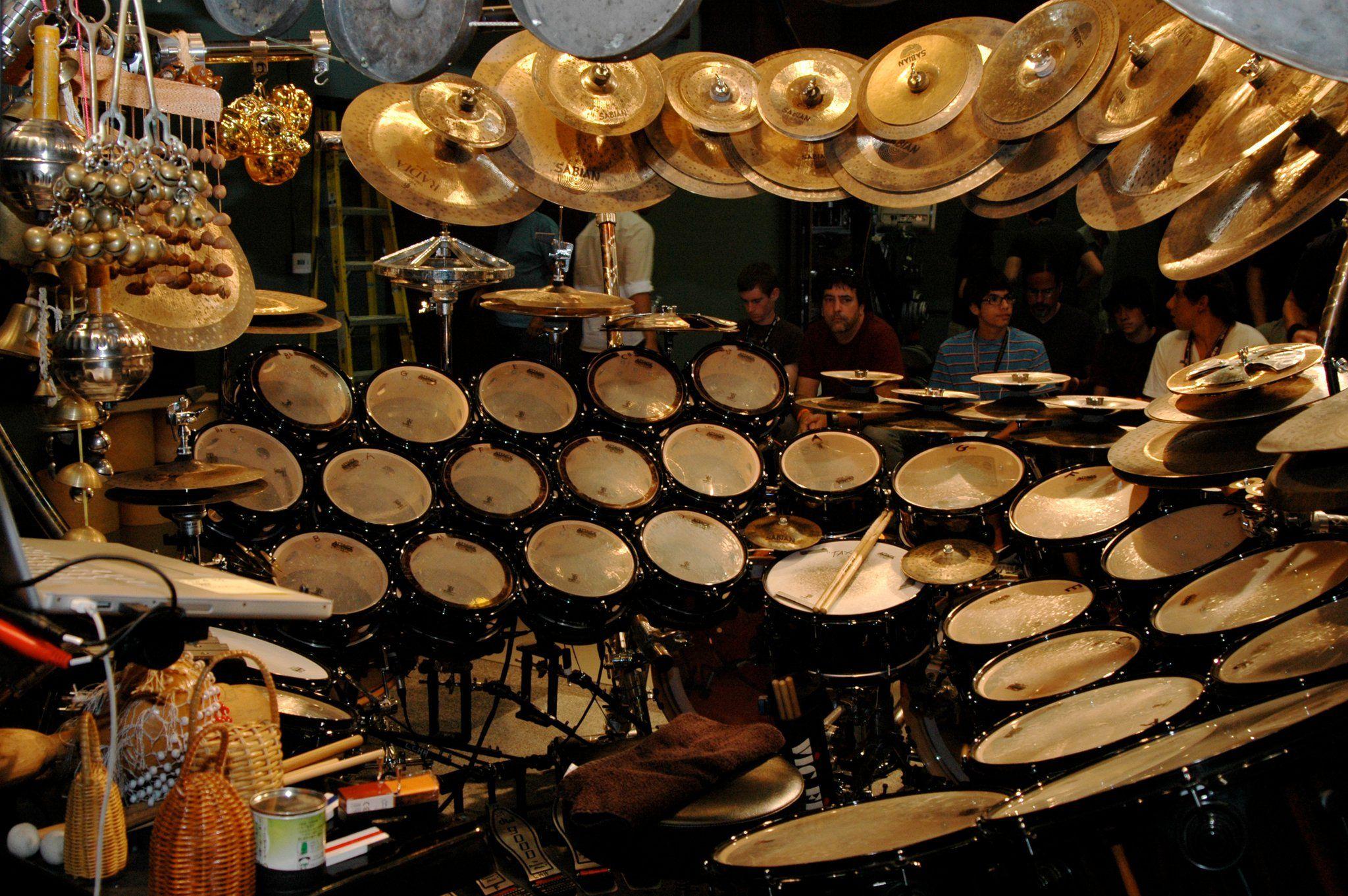 Terry Bozzio Drum Kit INSANEEEEEEEEE KITTTT Hahahha