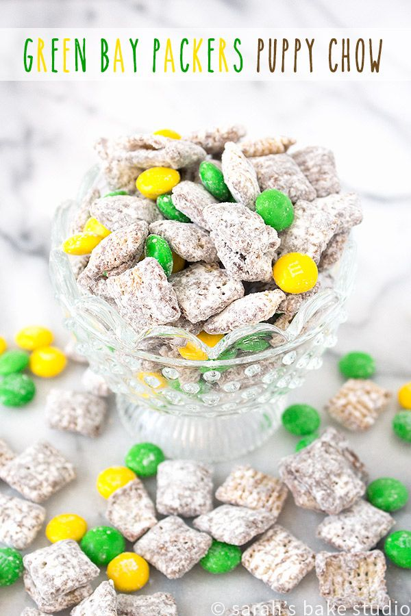 Green Bay Packers Puppy Chow #footballpartyfood