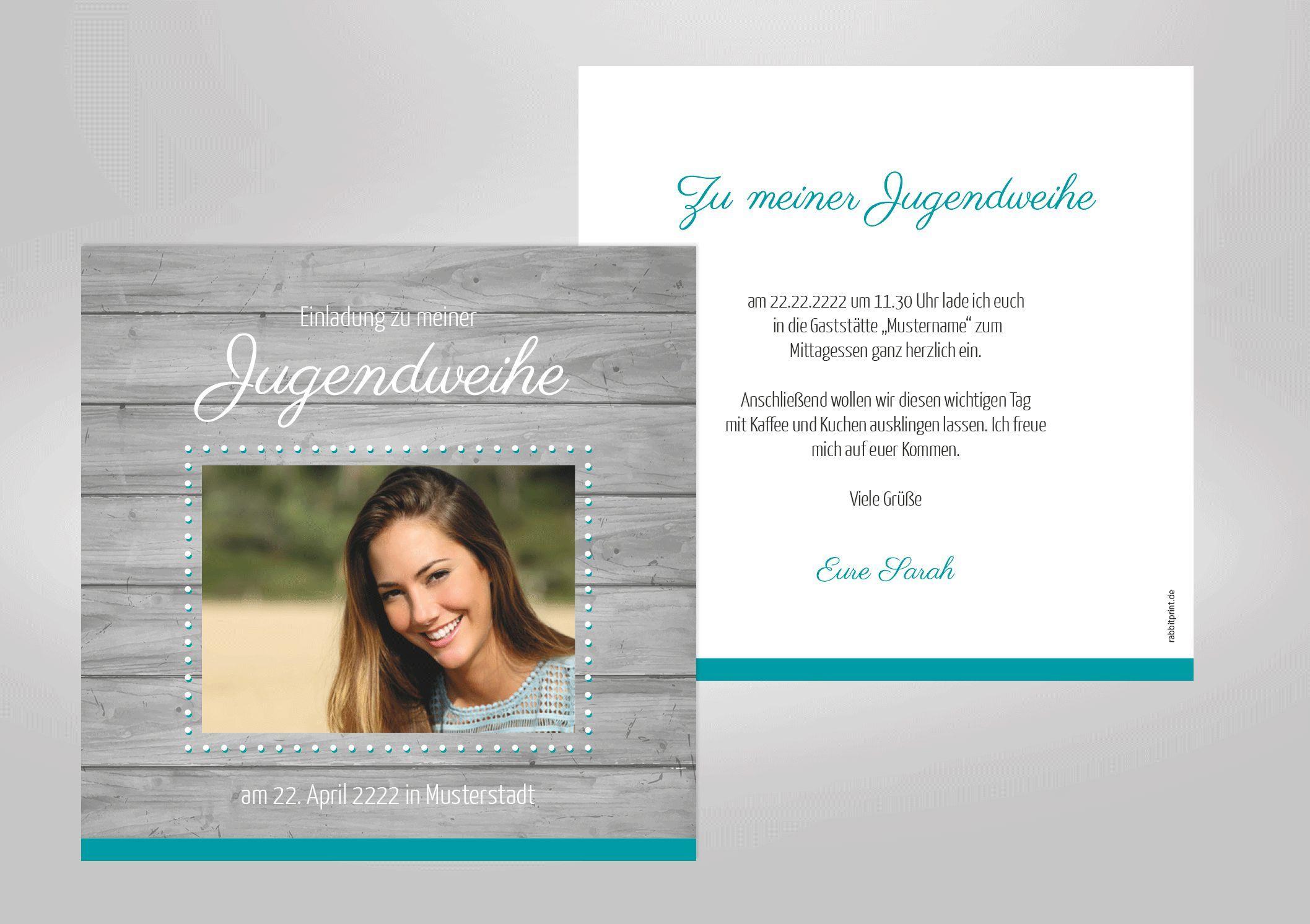 Einladungskarten Selbst Gestalten: Einladungskarten-jugendweihe-selbst-gestalten