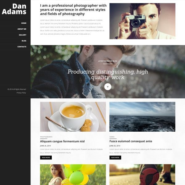 Photography Online Portfolio WordPress Theme #51031 #onlineportfolio Photography Online Portfolio WordPress Theme #onlineportfolio