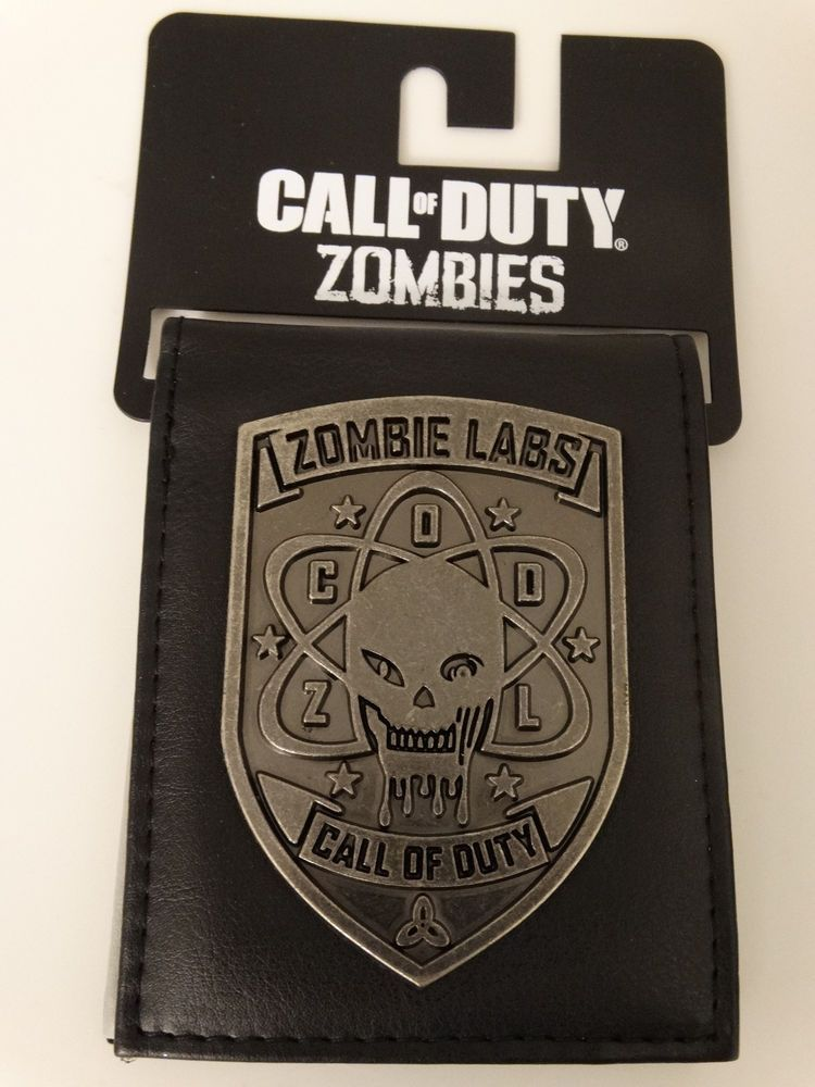 Call Of Duty Zombies Labs Video Game Metal Badge Bifold Wallet Call Of Duty Zombies Call Of Duty Bi Fold Wallet