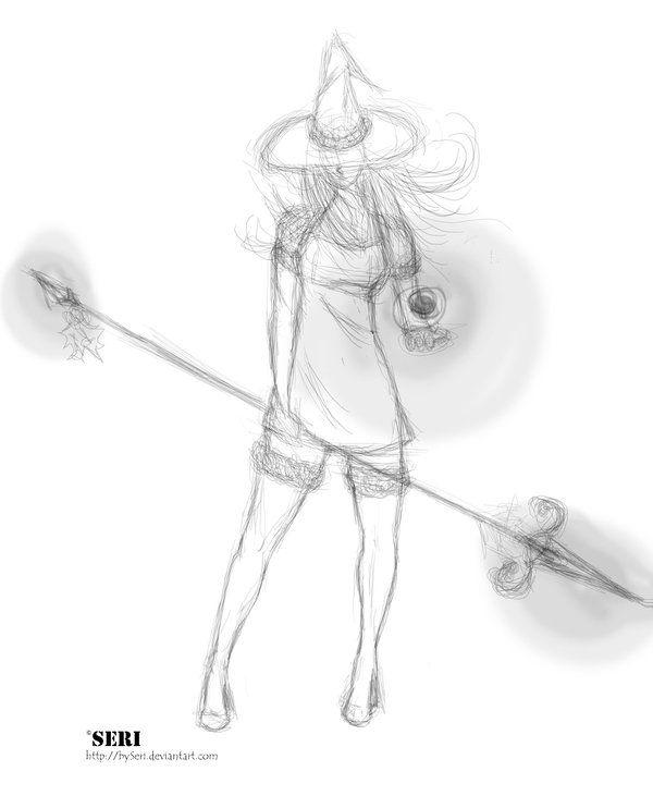 Winter Witch sketch by bySeri.deviantart.com on @deviantART