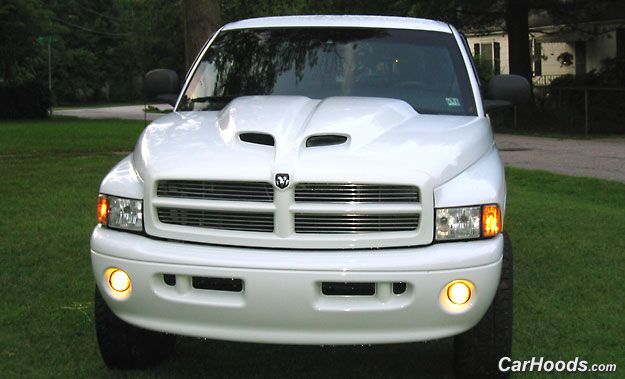 94 01 Dodge Truck Ram Air Ii Hood Composite Tech Just 689 00 Scoops Hoodore At Carhoods