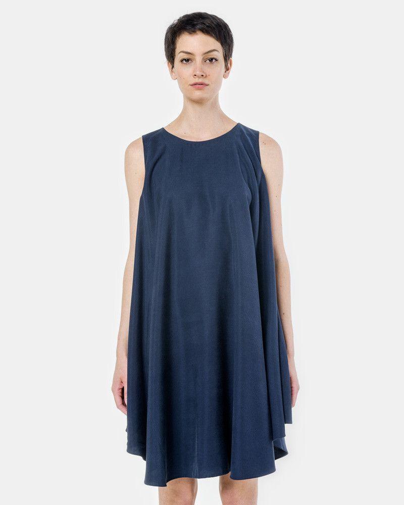 Jade Tent Sleeveless Dress in Space Blue