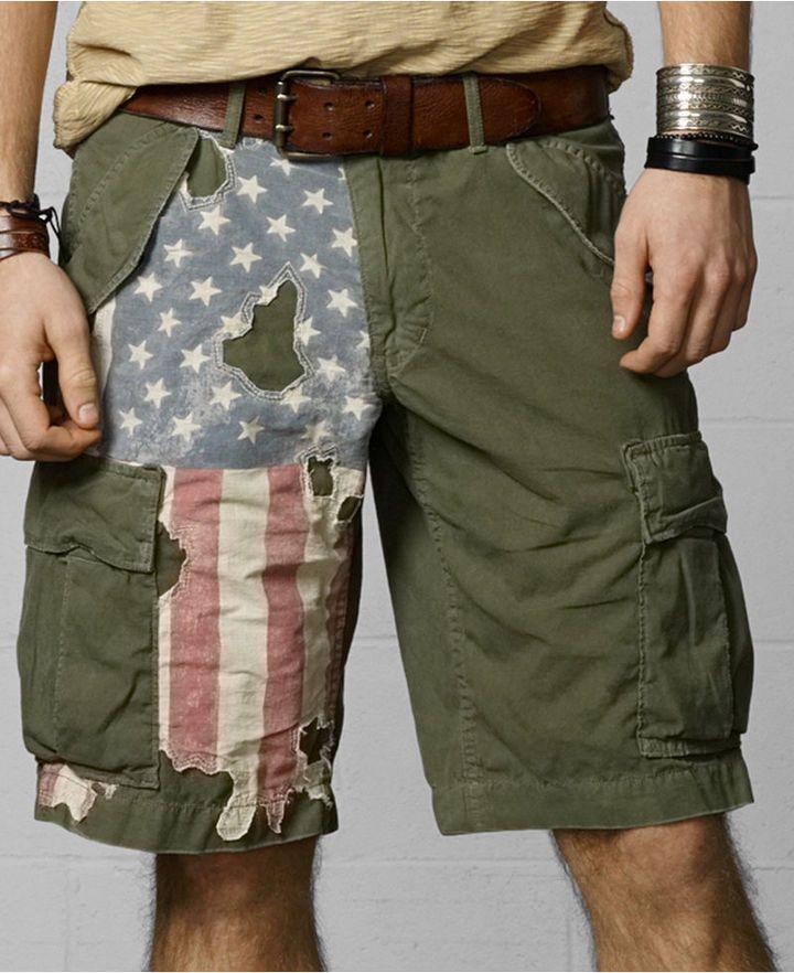86cf86b2d Denim   Supply Ralph Lauren Distressed-Flag Cargo Shorts on shopstyle.com