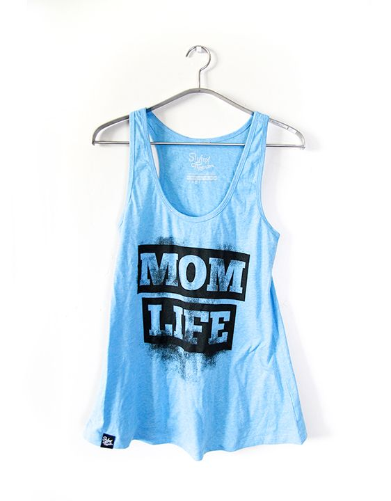 Mom Life Heather Blue Tank - Slyfox Threads