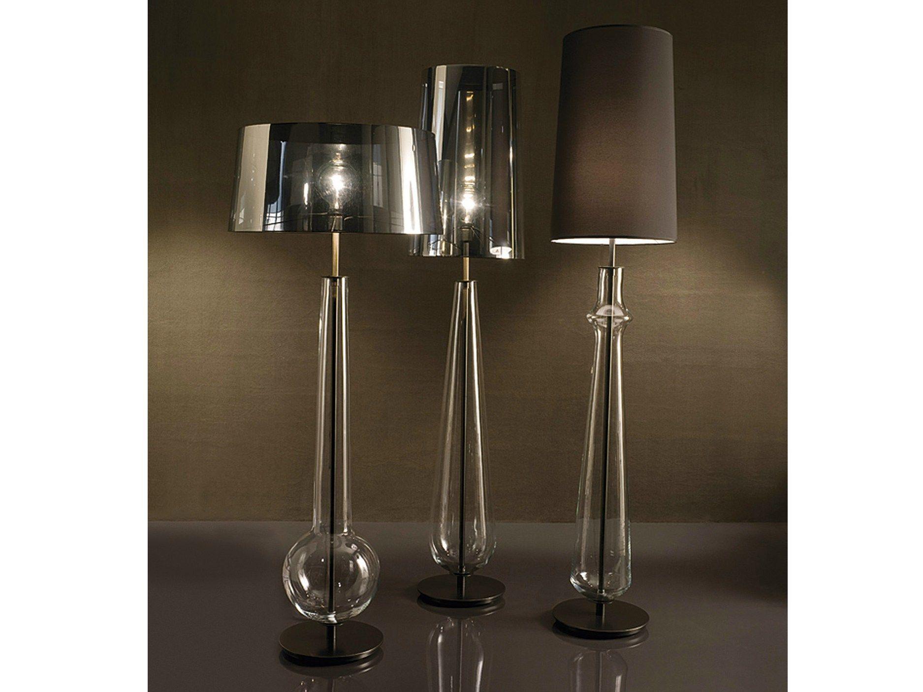Lampade In Vetro Soffiato : Lampada da terra in vetro soffiato new classic by penta design